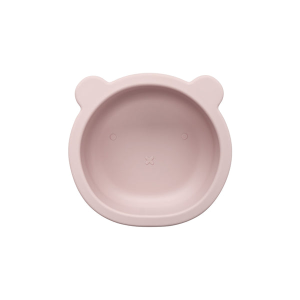 Silicone Suction Bear Bowl | Blush Pink for baby and kids feeding