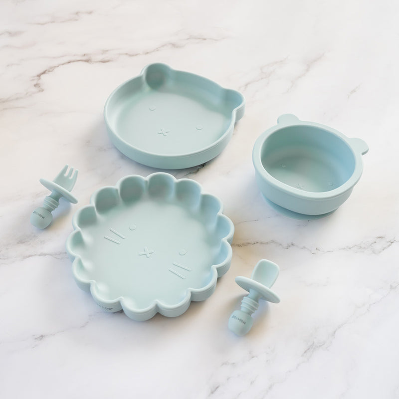Mini Silicone Cutlery Set | Sky Blue for baby, infant, toddlers and kids feeding and baby led weaning