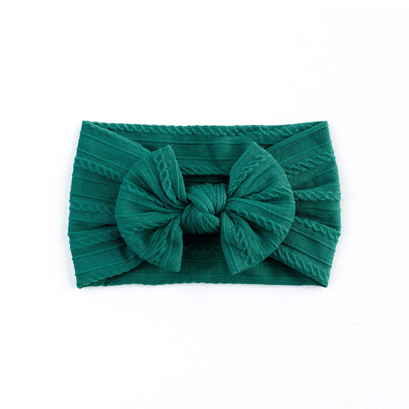 Cable Bow Headband - Jade