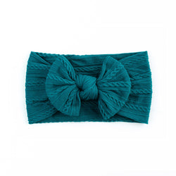 Cable Bow Headband - Peacock