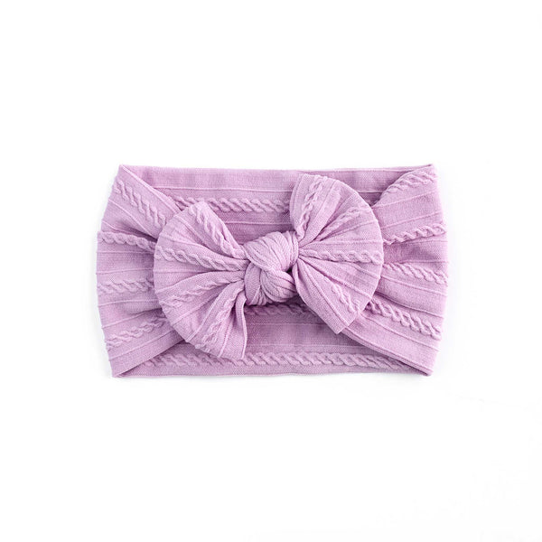 Cable Bow Headband - Violet for girls baby and toddlers. Cute, pretty and beautiful accessories
