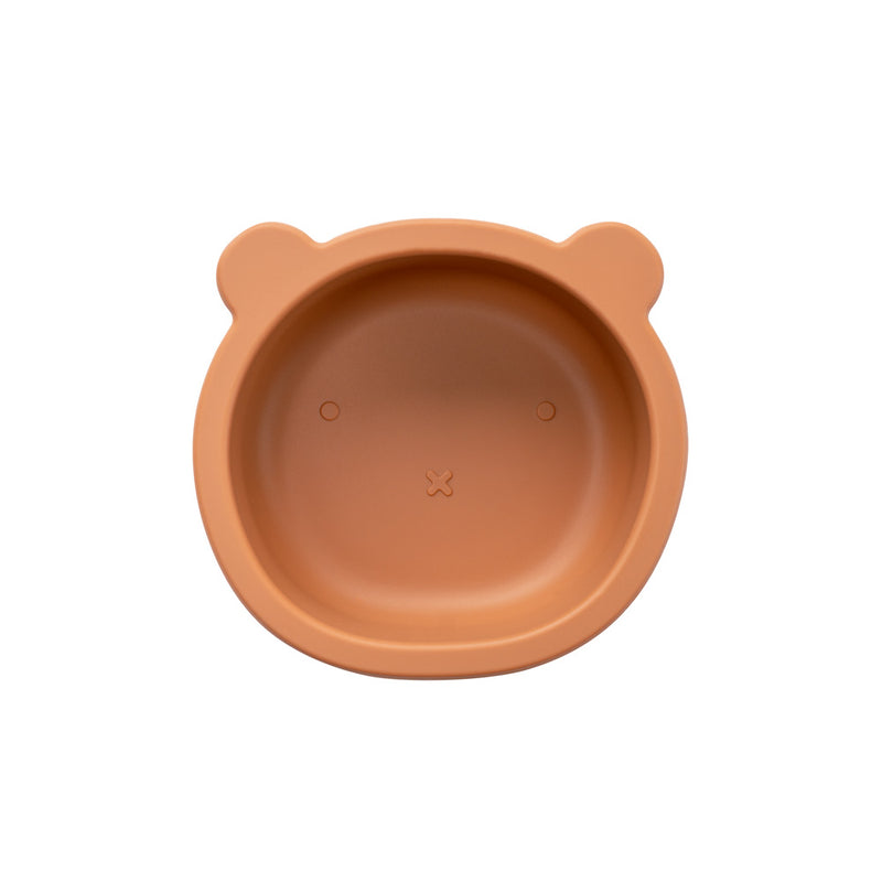 Silicone Suction Bear Bowl | Cinnamon for baby and kids feeding