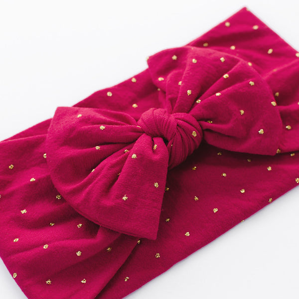 Christmas Bow Headband - Grace - Baby Girl Nylon