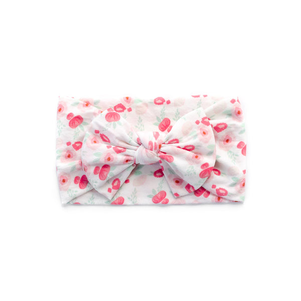 Classic Bow Headband - Roses for baby, newborn and infant. Cute and beautiful. One size fit all