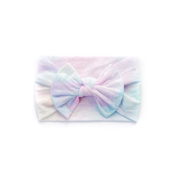 Classic Bow Headband - Cotton Candy for baby, newborn and infant. Cute and beautiful. One size fit all