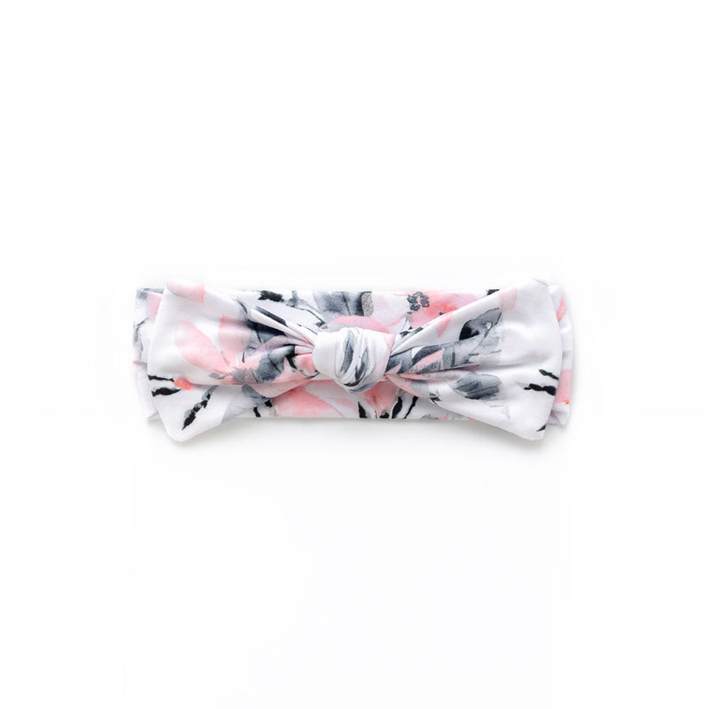 Mod & Tod Baby Stretchy Swaddle Wrap Organic Cotton - Speck-tacular - Free Matching Baby Bow Headband