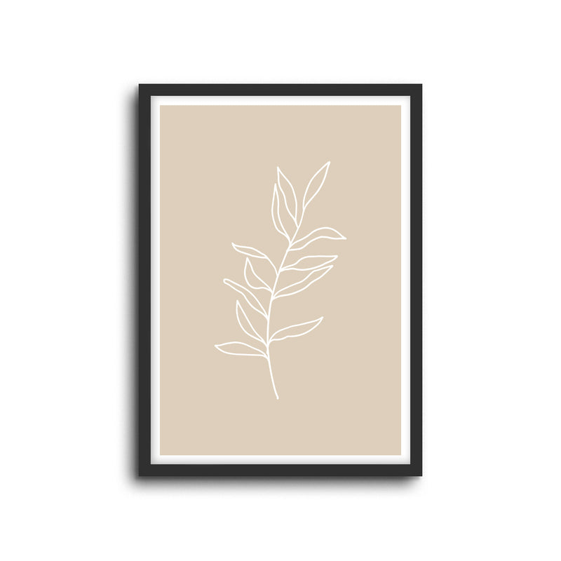 Minimal Botanical Collection - Style 2 Wall Print Art Decor for home living, lounge and modern line art nature inspired