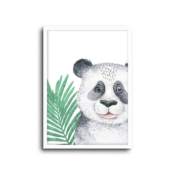 Safari Panda Wall Print Baby Kids Room Nursery Art