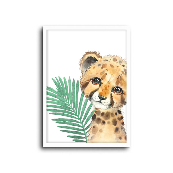Safari Cheetah Wall Print Baby Kids Room Nursery Art