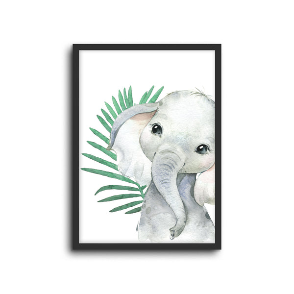 Safari Elephant Wall Print Baby Kids Room Nursery Art