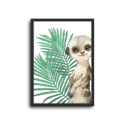 Safari Meerkat Wall Print Baby Kids Room Nursery Art
