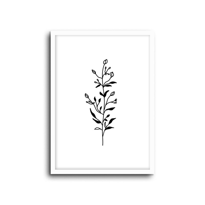 Minimal Botanical Collection - Style 9 Wall Print Art Decor for home living room, lounge and modern line art nature inspired
