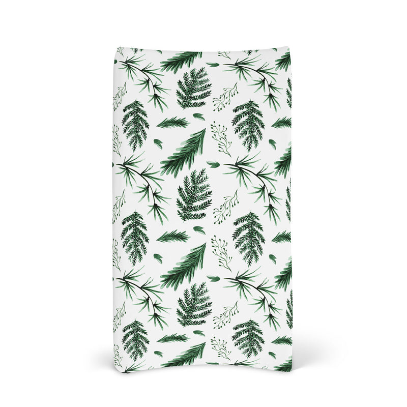 Fitted Bassinet Sheet & Change Mat Cover | Evergreen for baby nursery