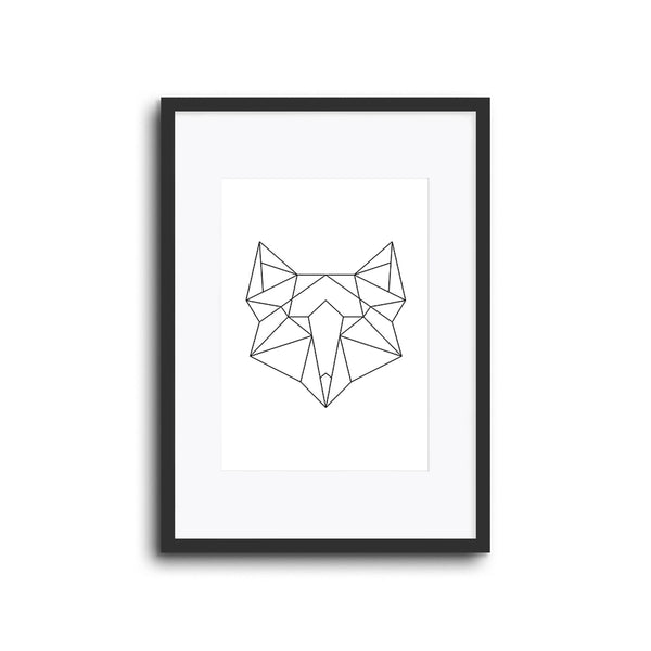 Wall Print Geometric Line Animals Fox