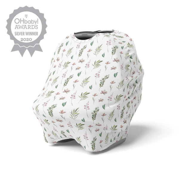 5 in 1 Multi Use Cover - Dusky Meadows - Capsule Cover, Highchair Cover, Shopping Trolley Cover, Breastfeeding Cover, Nursing Scarf