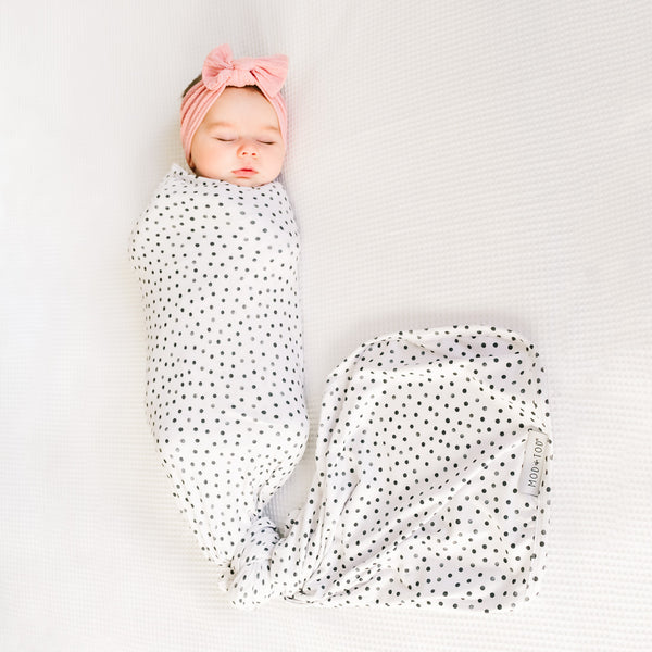 Mod & Tod Baby Stretchy Swaddle Wrap Organic Cotton - Speck-tacular