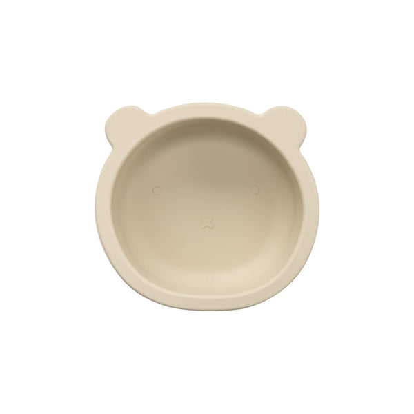Silicone Suction Bear Bowl | Ivory for baby and kids feeding