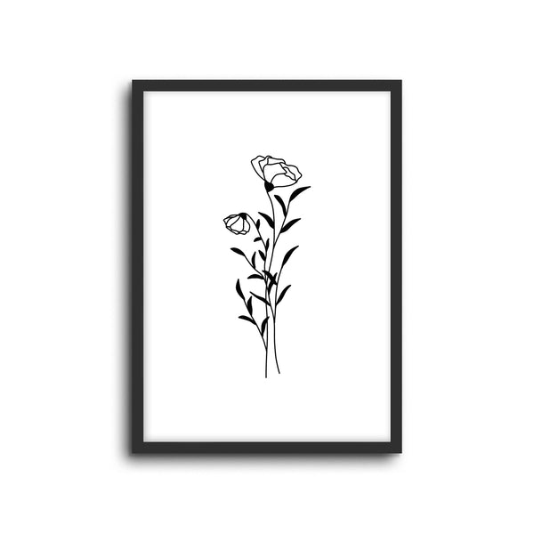 Minimal Botanical Collection - Style 3 Wall Print Art Decor for home living room, lounge and modern line art nature inspired