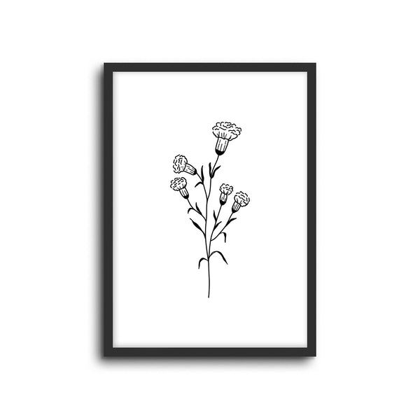 Minimal Botanical Collection - Style 4 Wall Print Art Decor for home living room, lounge and modern line art nature inspired
