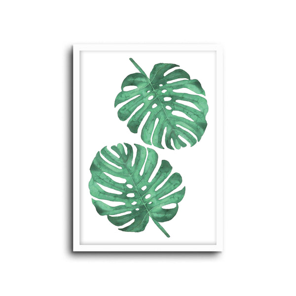 Monstera Plant Wall Print Baby Kids Room Nursery Art