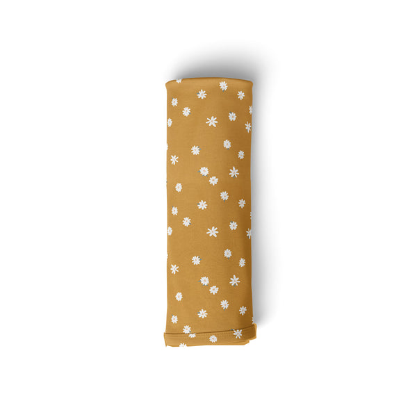 Mod & Tod Baby Stretchy Swaddle Wrap Organic Cotton - Ochre Daisy