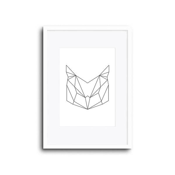 Wall Print Geometric Line Animals Owl
