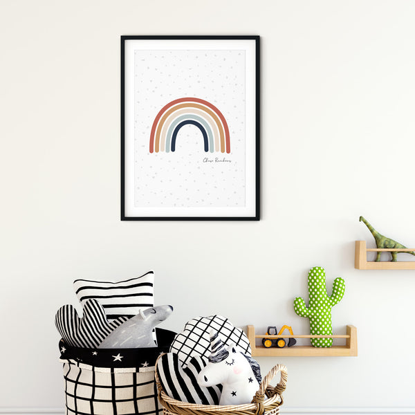 Chase Rainbows wall print art for baby nursery or children's bedroom