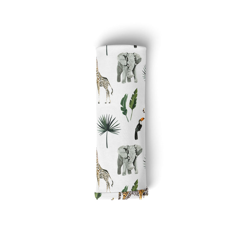 Mod & Tod Baby Stretchy Swaddle Wrap Organic Cotton - Safari - Animals