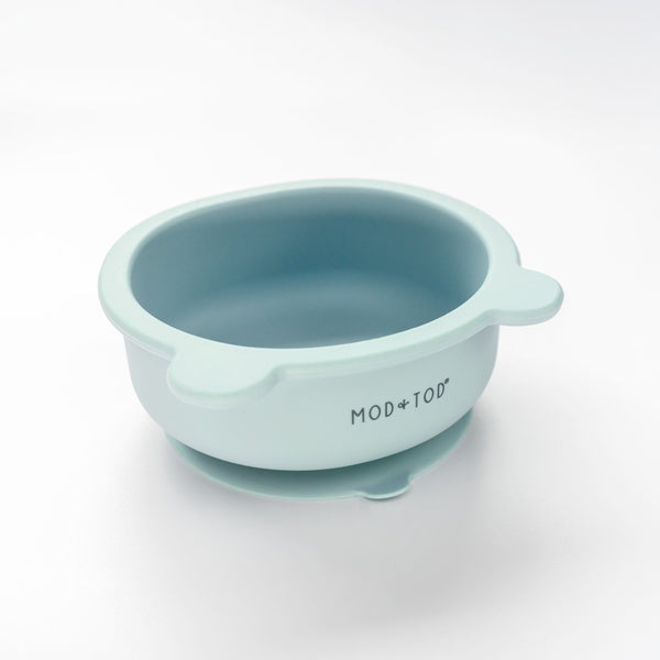 Silicone Suction Bear Bowl | Sky Blue for baby and kids feeding