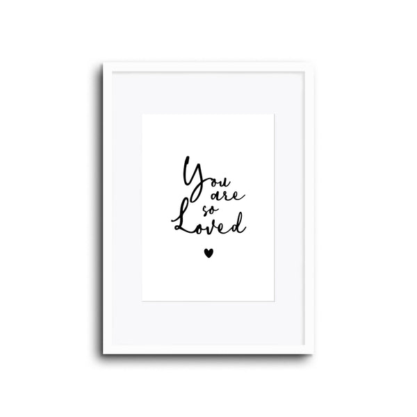 Nursery Decor Wall art Print - You Are So Loved - Kids bedroom baby room playroom home decor and for lounge