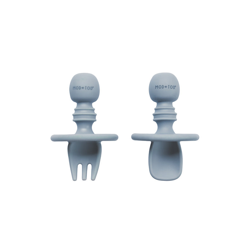 Silicone Cutlery Set | Steel for kids and baby feeding