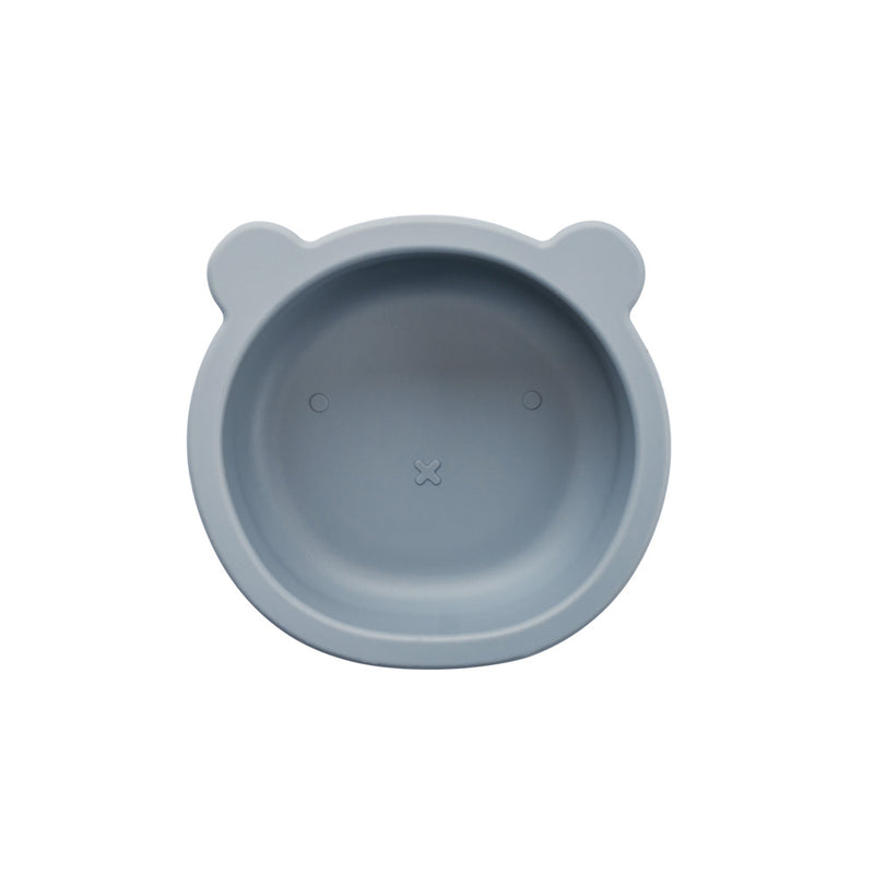 Silicone Suction Bear Bowl | Steel for baby and kids feeding