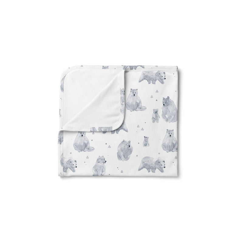 Mod & Tod Baby Stretchy Swaddle Wrap Organic Cotton - Cuddle Bear