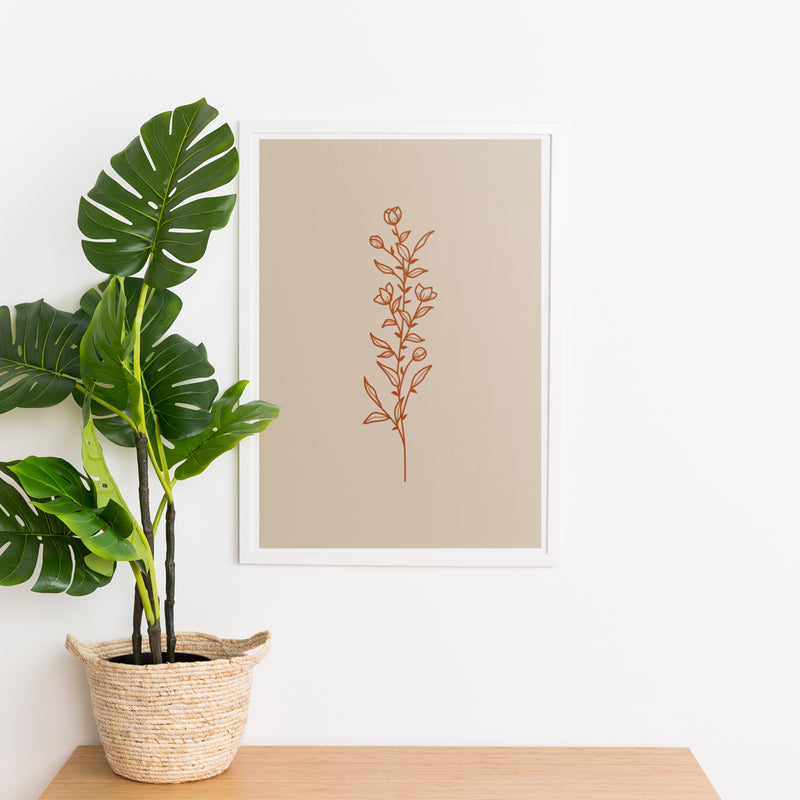Minimal Botanical Collection - Style 5 Wall Print Art Decor for home living room, lounge and modern line art nature inspired