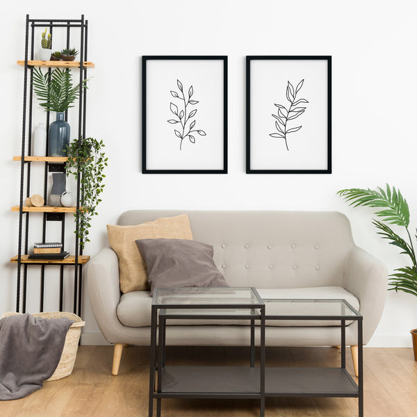 Minimal Botanical Collection - Style 6 Wall Print Art Decor for home living room, lounge and modern line art nature inspired