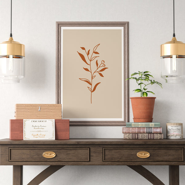 Minimal Botanical Collection - Style 7 Wall Print Art Decor for home living room, lounge and modern line art nature inspired