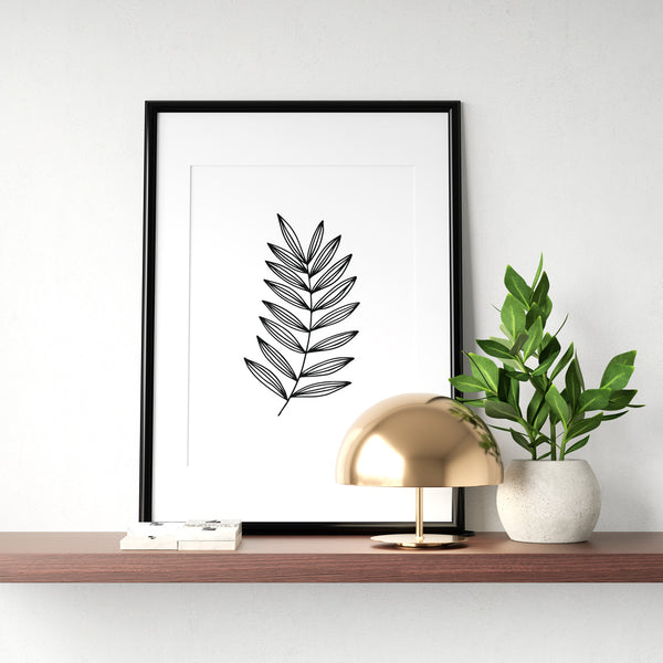 Minimal Botanical Collection - Style 1 Wall Print Art Decor for home living, lounge and modern line art nature inspired
