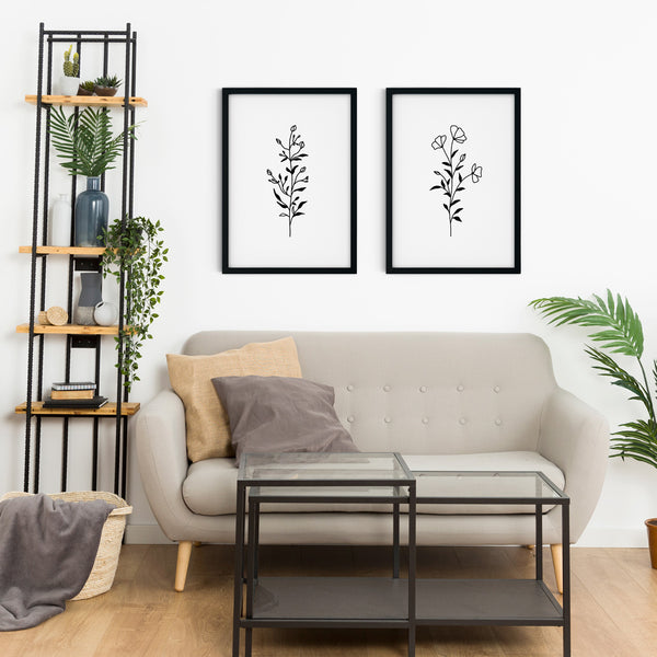 Minimal Botanical Collection - Style 8 Wall Print Art Decor for home living room, lounge and modern line art nature inspired