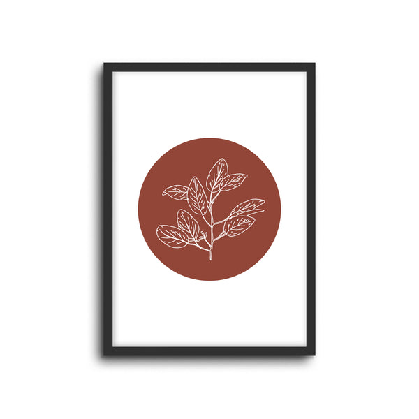 Magnolia Eucalyptus Plant Wall Print Baby Kids Room Nursery Art Home Lounge Living Room Decor