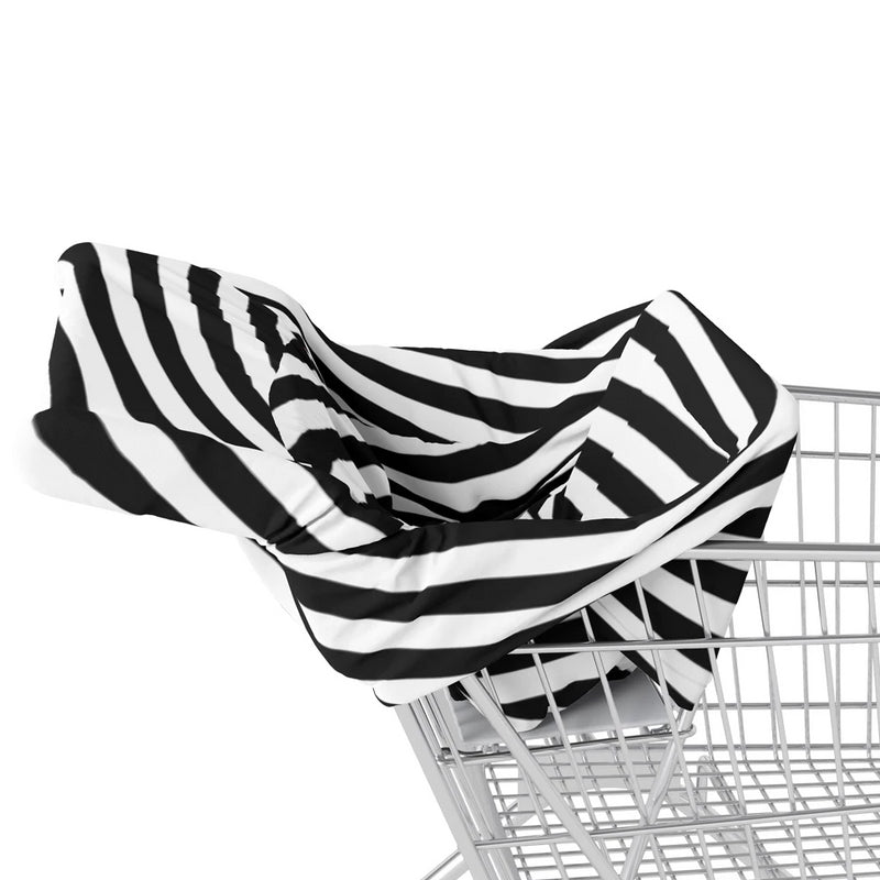 5 in 1 Multi Use Cover - Timeless Stripes - Capsule Cover, Highchair Cover, Shopping Trolley Cover, Breastfeeding Cover, Nursing Scarf