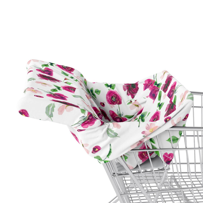 5 in 1 Multi Use Cover - Spring Bloom - Floral - Capsule Cover, Highchair Cover, Shopping Trolley Cover, Breastfeeding Cover, Infinity Scarf