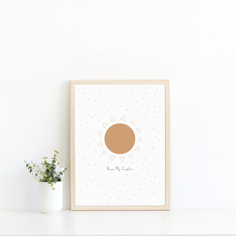 You're My Sunshine wall print art for baby nursery or children's bedroom