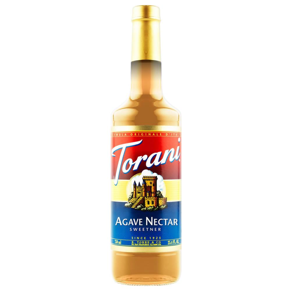 Torani Agave Nectar Sweetener Syrup 750 mL Bottle
