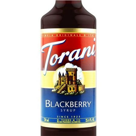 Torani Blackberry Syrup 750 mL Bottle