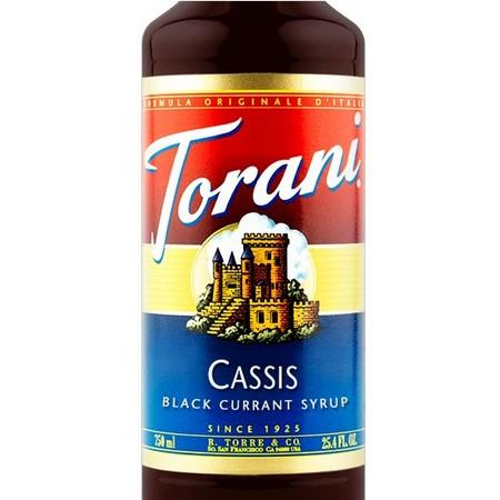 Torani Cassis Syrup 750 mL Bottle