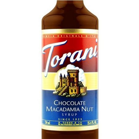 Torani Chocolate Macadamia Nut Syrup 750 mL Bottle