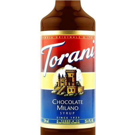 Torani Chocolate Milano Syrup 750 mL Bottle