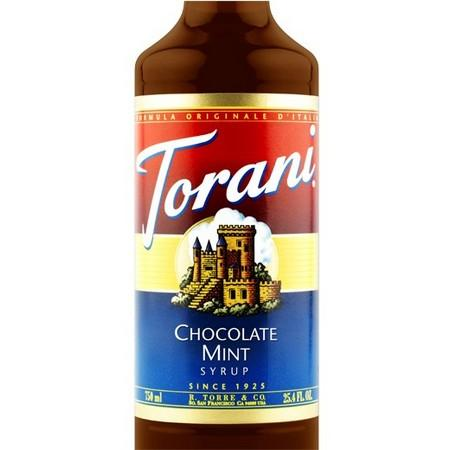 Torani Chocolate Mint Syrup 750 mL Bottle