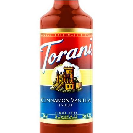 Torani Cinnamon Vanilla Syrup 750 mL Bottle