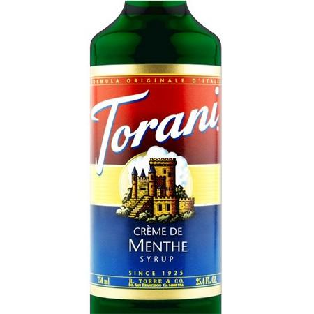 Torani Creme De Menthe Syrup 750 mL Bottle